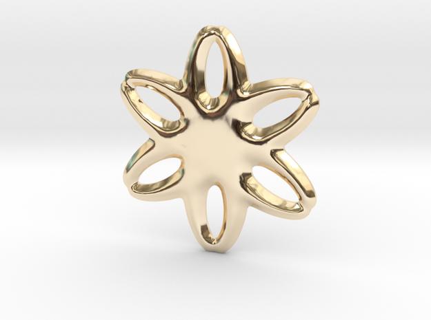 Soft star pendant or earrings in 14k Gold Plated Brass