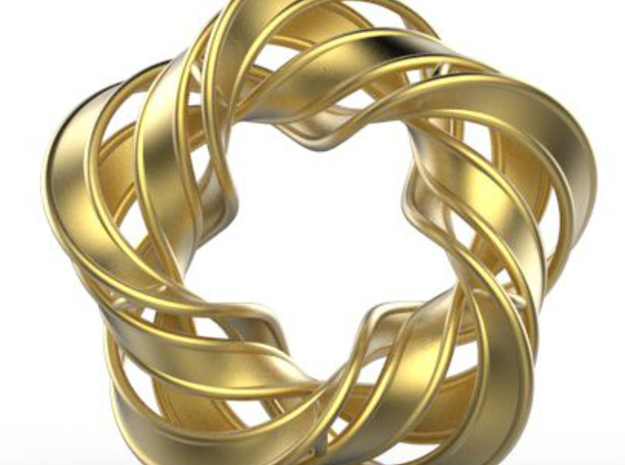 Rotating Star in Matte Gold Steel