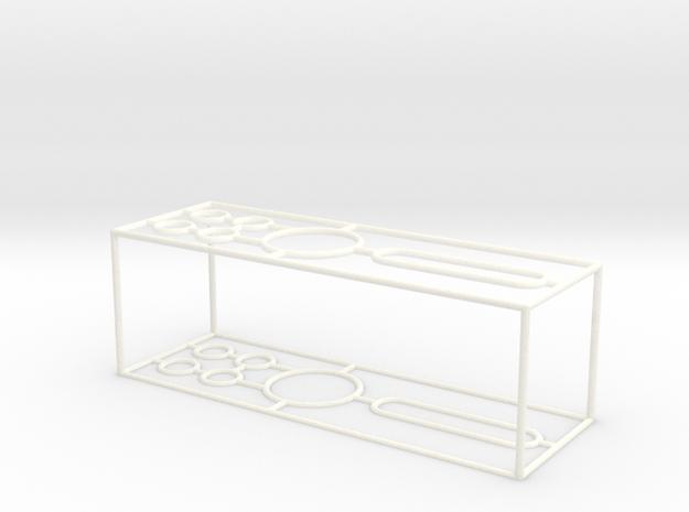 Wire Pencil Organizer in White Processed Versatile Plastic