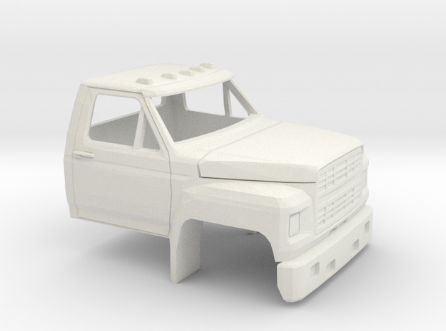 1/50 1980-86 Ford F 600 Cab in White Natural Versatile Plastic
