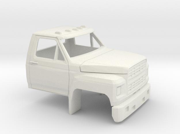 1/50 1980-86 Ford F 600 Cab in White Natural Versatile Plastic