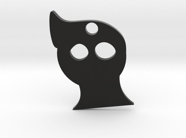Shade feels Keychain in Black Natural Versatile Plastic