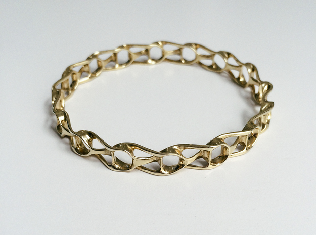 Topo Bracelet in Polished Brass