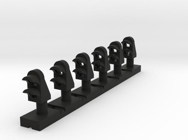 Dwarf 2 Light 160:1 N Scale (Qty 6) in Black Natural Versatile Plastic