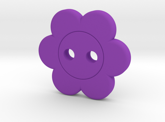 Flower Button in Purple Processed Versatile Plastic