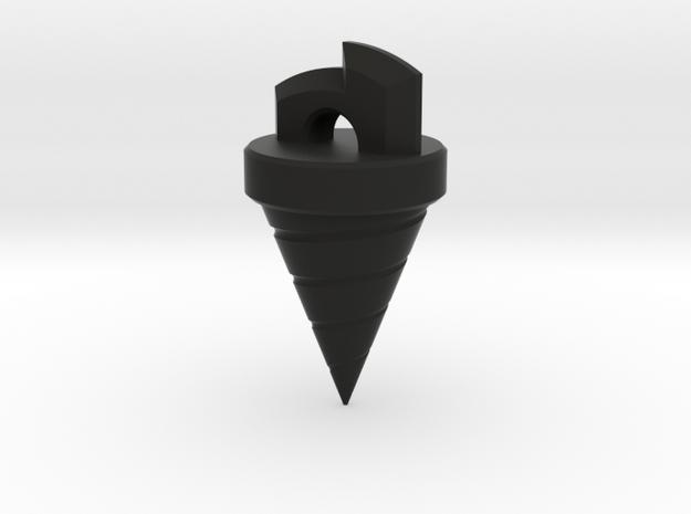 Gurren Lagann Drill Pendant in Black Natural Versatile Plastic