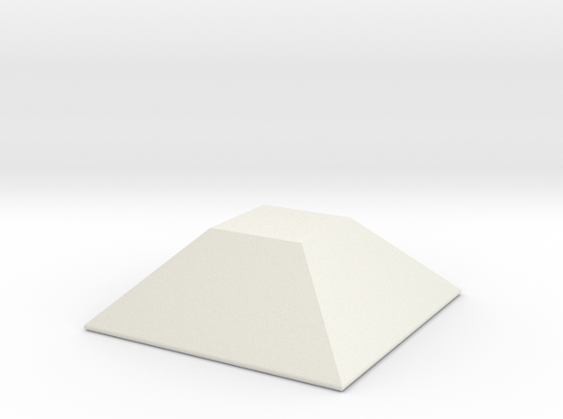 Faceted Square Spike in White Natural Versatile Plastic