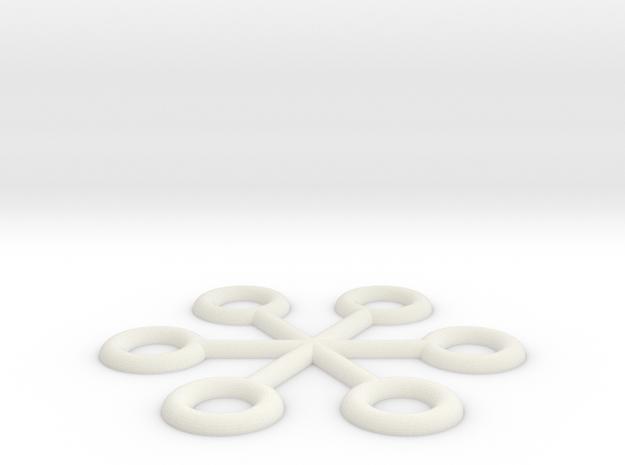 AT-AT Commander Star Flat Back in White Natural Versatile Plastic