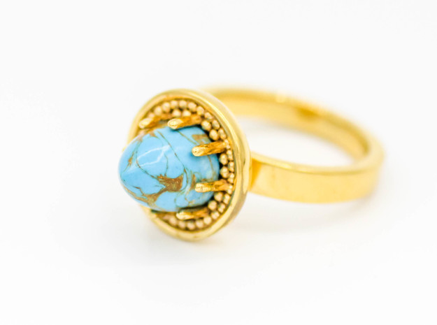 Ring Iris in 14k Gold Plated Brass: 5.5 / 50.25