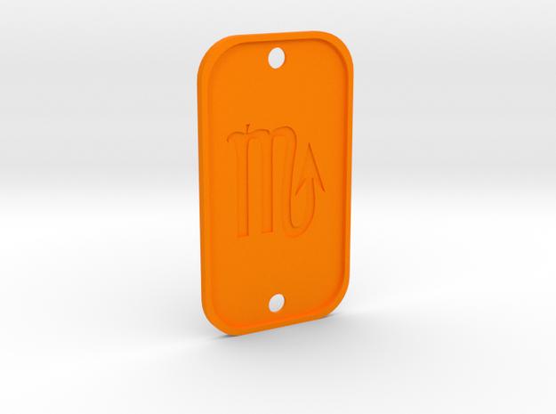 Scorpion (The Scorpion) DogTag V4 in Orange Processed Versatile Plastic