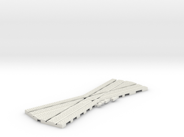 P-12stw-22-5-crossing-1a in White Natural Versatile Plastic