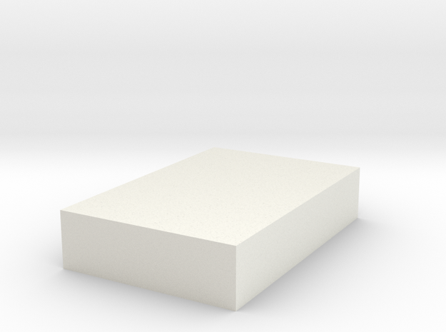 Rectangular Tab in White Natural Versatile Plastic
