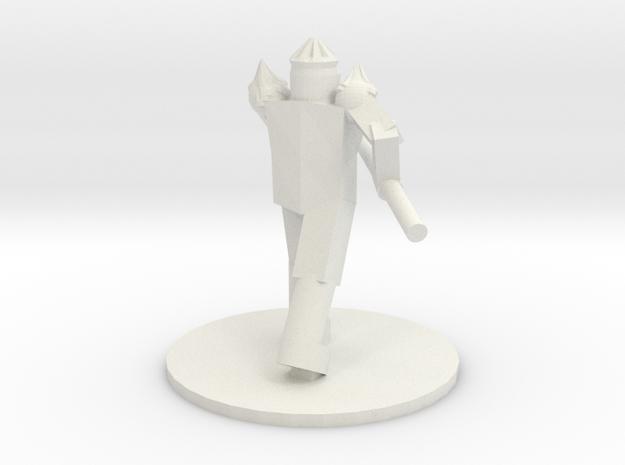 Pike Warrior in White Natural Versatile Plastic