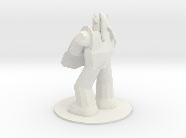 Armored Troll in White Natural Versatile Plastic