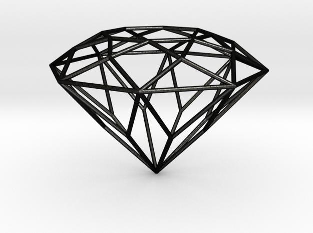 Diamond-W-1 6-mm in Matte Black Steel