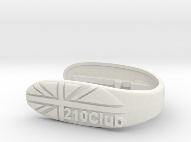 CLUB 210 UNION KEY FOB  in White Natural Versatile Plastic