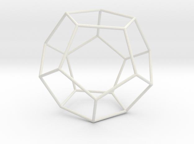 Pentahedron in White Natural Versatile Plastic