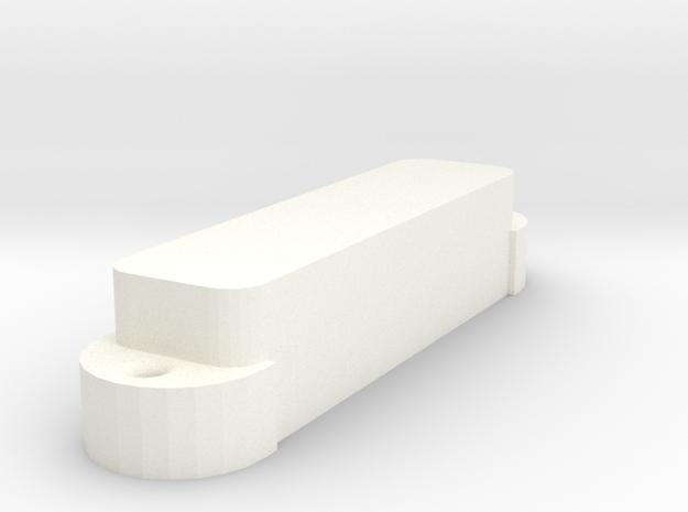 Jag PU Cover, Single, Closed in White Processed Versatile Plastic