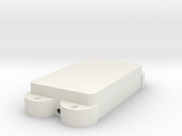 Jag PU Cover, Double, Closed in White Premium Versatile Plastic