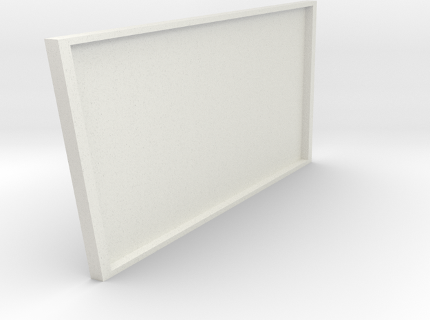 1/64 Formula Racing Pit Garage Wall (Right Side) in White Natural Versatile Plastic