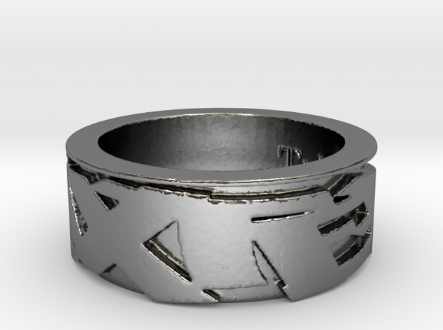 TRIXTER Signature Series Ring IX1 in Polished Silver