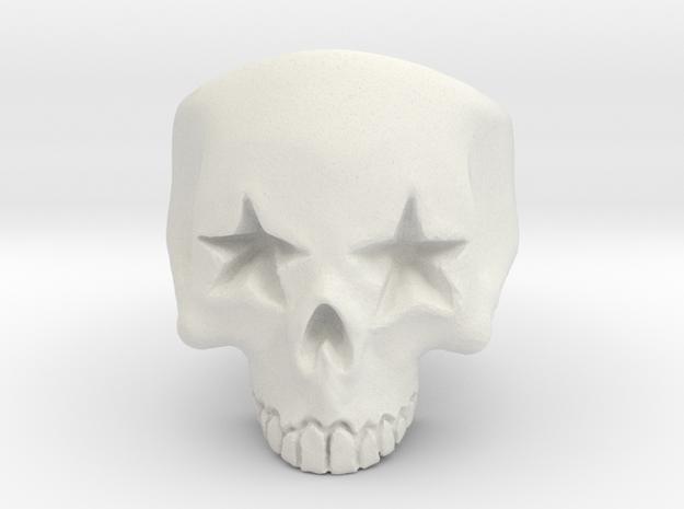 Joker's Star-Eyes Skull Ring - Plastics in White Strong & Flexible: 7 / 54