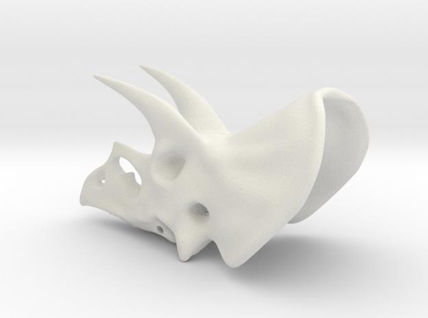 Triceratops Skull in White Natural Versatile Plastic