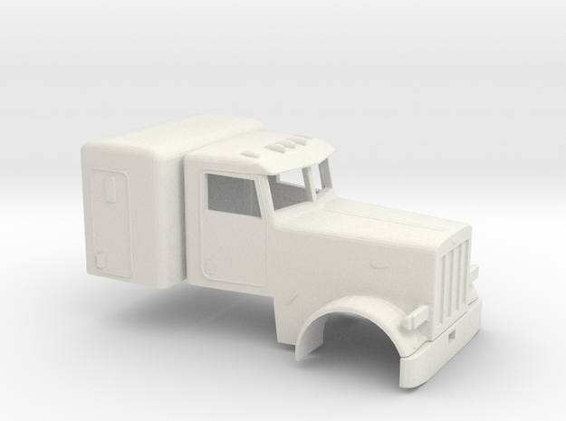 1/50 Peterbilt 379 Cab and Sleeper in White Strong & Flexible