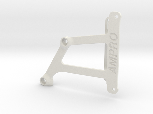 056008-01 Falcon Lower Chassis Brace in White Natural Versatile Plastic