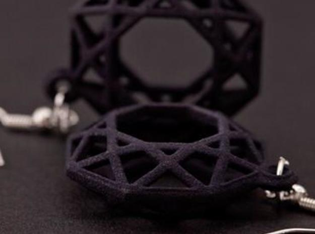 BRILLIANT - earrings 3d printed Black