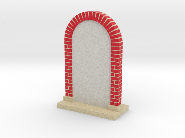 arch wall - customizable sandstone various sizes in Full Color Sandstone: Medium