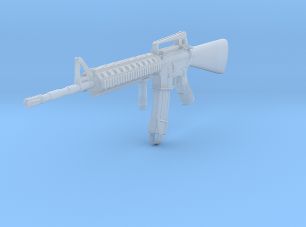 1/16th 16A4 with foregrip in Smooth Fine Detail Plastic