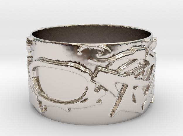 TRIXTER Signature Series Ring IX2 in Platinum