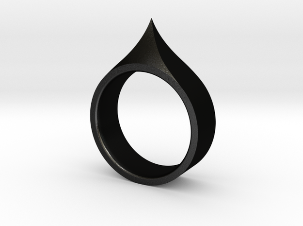 Claw Ring - Size 9 in Matte Black Steel