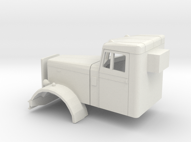1/32 1955 Peterbilt 281 Cab in White Strong & Flexible
