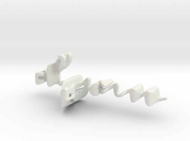 3dWordFlip: dyan/adam in White Natural Versatile Plastic