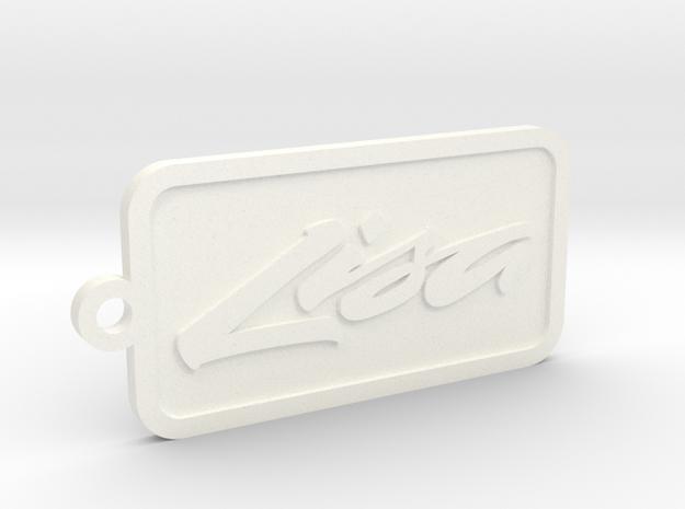 Apple Lisa keychain in White Processed Versatile Plastic