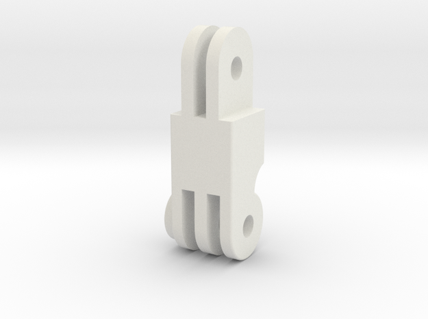 AEE to GoPro mount adapter  in White Natural Versatile Plastic