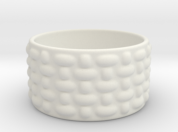 Bowl Hollow Form 2018-0001 various sizes in White Natural Versatile Plastic: Medium