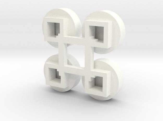1/64 Circular Bin Roof Vent (4) in White Processed Versatile Plastic