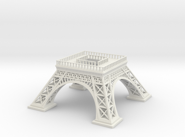 Eiffel Tower (Test acc) in White Natural Versatile Plastic