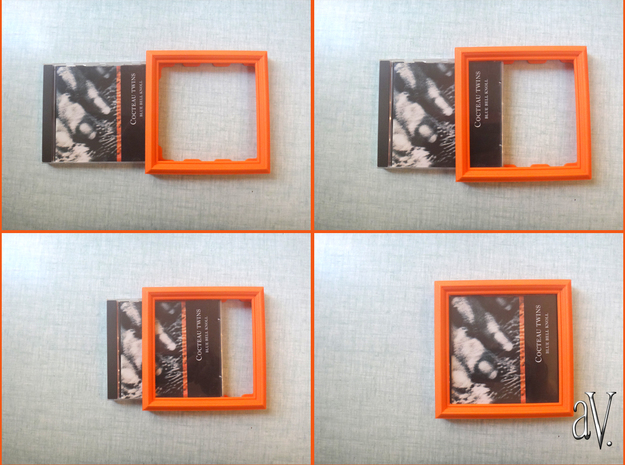 CD Frame Rain 3 in Orange Processed Versatile Plastic