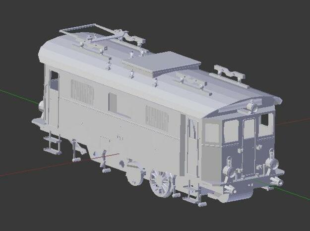 Gehäuse E-Lok EG 506 / 10208 3d printed Dach, Gehäuse, Fahrgestell, Rad, Bügelteil