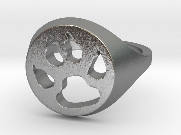 dog ring in Natural Silver: 7 / 54