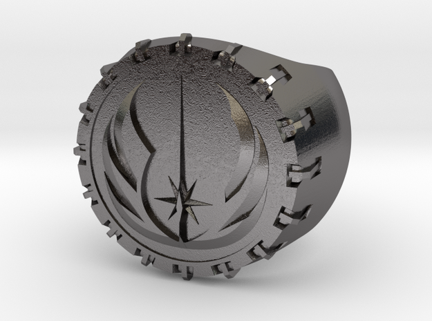 Jedi Ring 24mm in Polished Nickel Steel