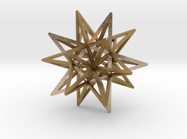 JORGE'S STAR in Polished Gold Steel