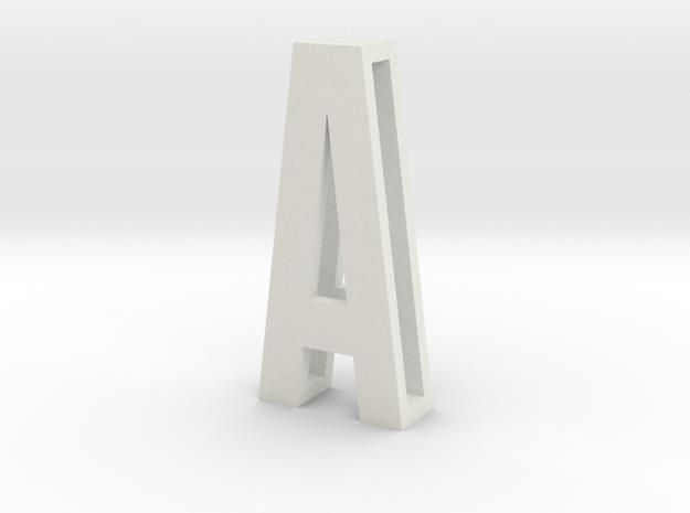SLIDE LETTERS (extra sizes) A in White Natural Versatile Plastic: Medium