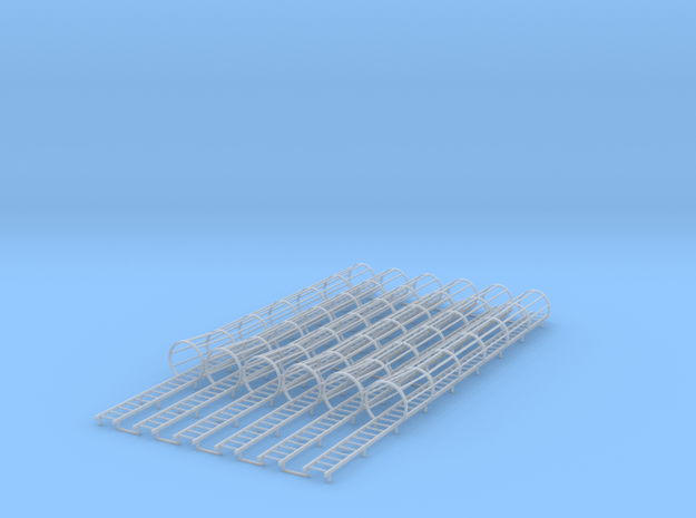 1/64 Ladder Cage Flair Bottom 6pc in Smooth Fine Detail Plastic