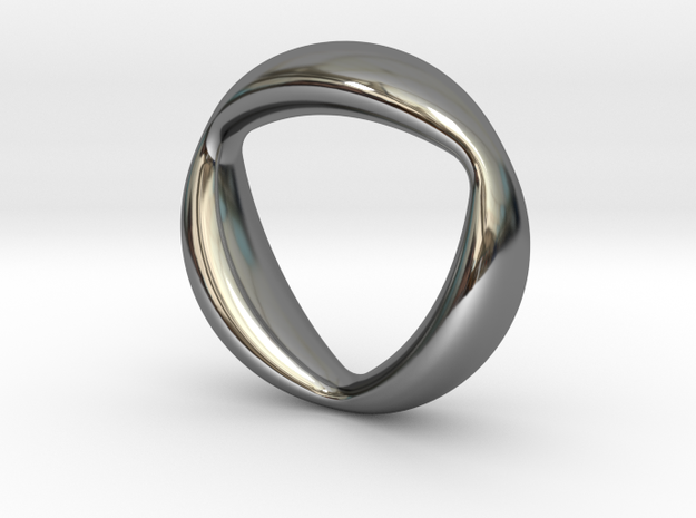 Trifocal Ring US size 6 (UK Size M) in Fine Detail Polished Silver