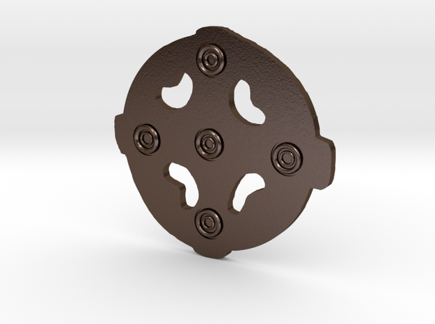 5th C Openwork brooch in Polished Bronze Steel